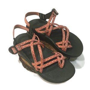 Orange •Chaco• 2-strap sandals